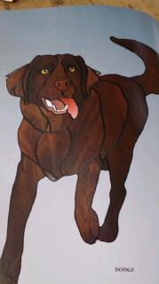 ステンドグラス  犬